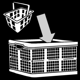 groceries: put in folding crate