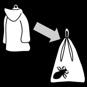 put coat in lice bag