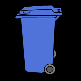 trash can / garbage can