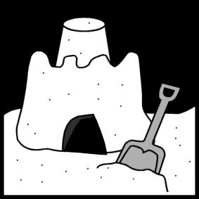 make a sand castle